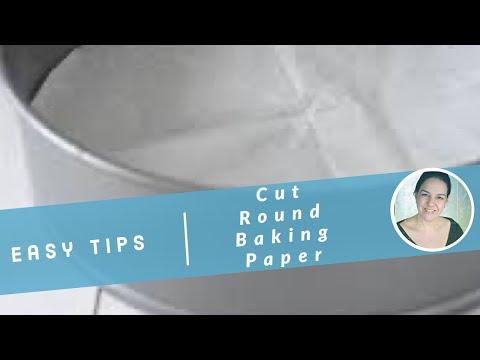 Cutting round baking paper