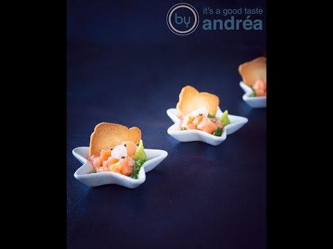 How do you make this Christmas amuse bouche salmon in arugula oil