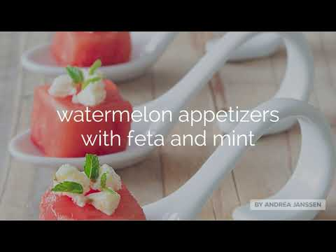How to make watermelon appetizers with feta and lime