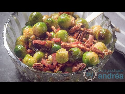 Brussels sprouts with bacon and Bourbon glaze