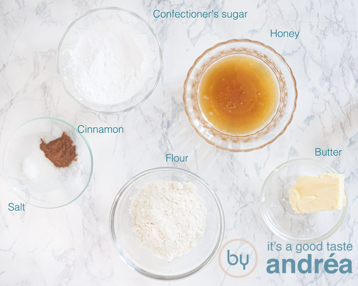 Ingredients honey tuiles