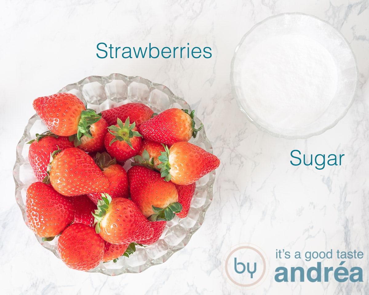 Ingredients no-cook strawberry sauce
