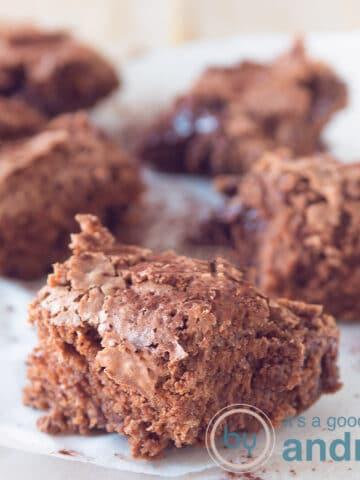 Homemade chocolate brownies
