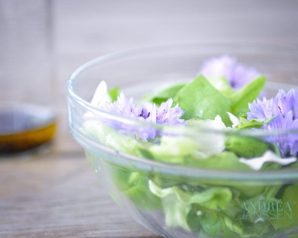 eetbare bloemen salade