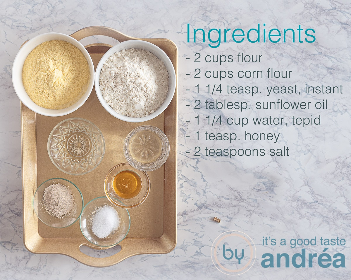 Ingredients cornbread loaf