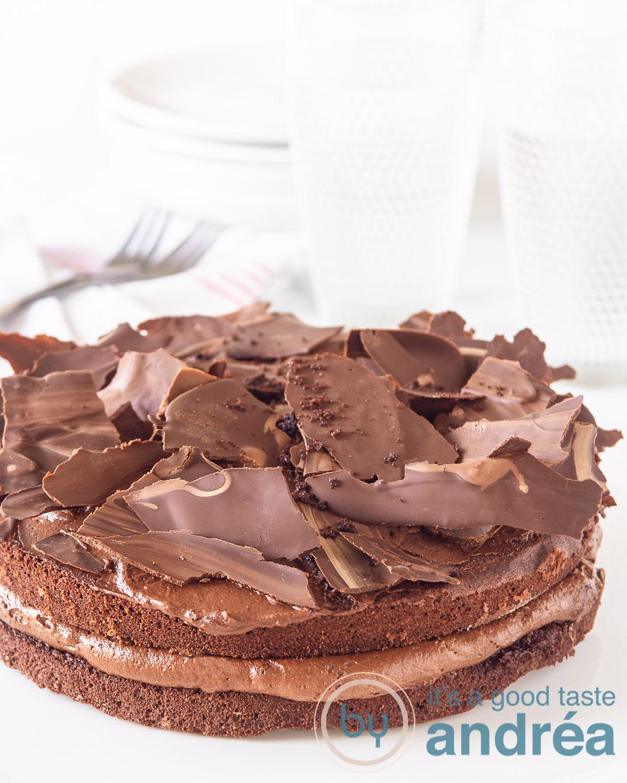 Choco coffee mousse tart
