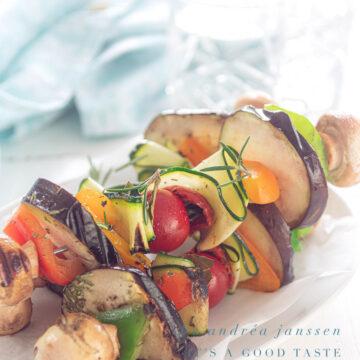 vegan vegetable kebabs for the bbq