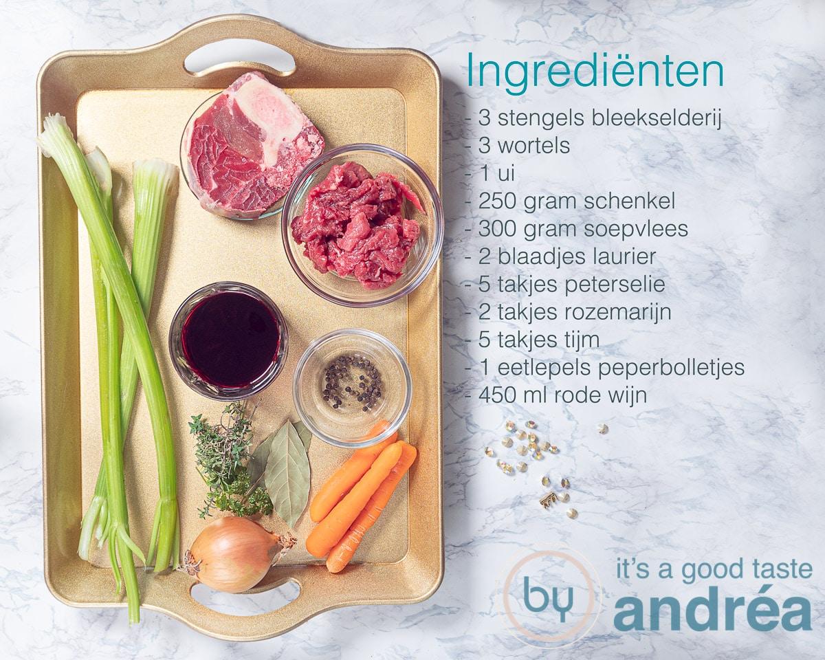 Ingredienten zelf runderbouillon maken