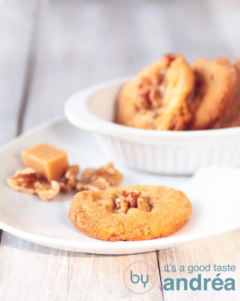 Walnut cookies on a plate