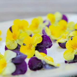 sugar flowers on a plate