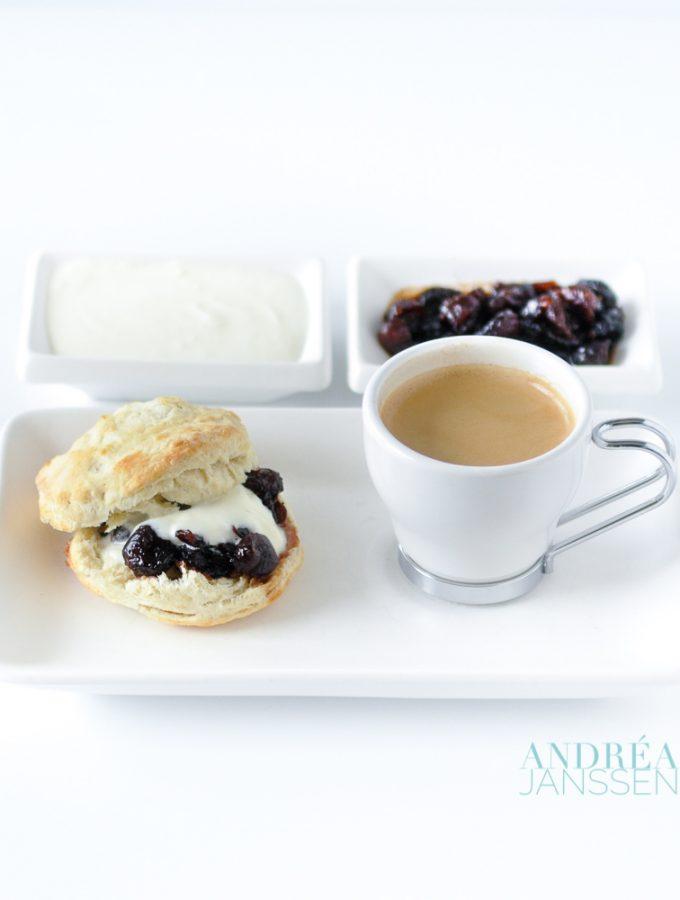 scones met cranberry limoen compote