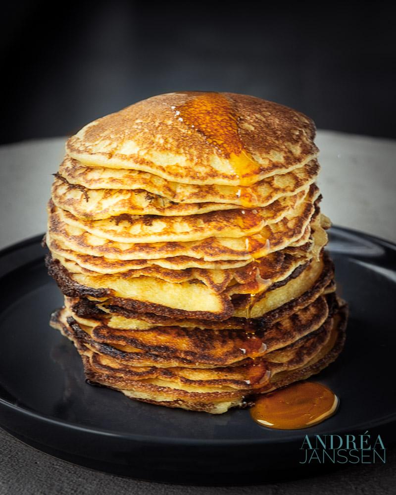 Karnemelk maismeel pancakes