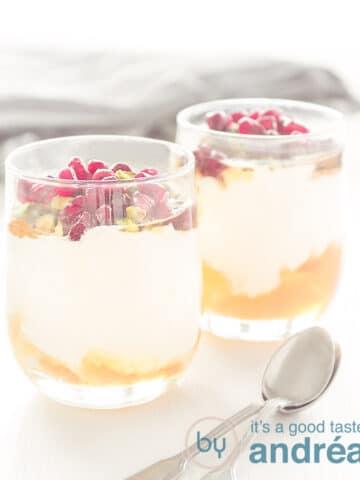 Yogurt with honey and pomegranate