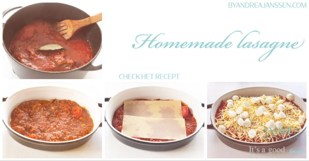 Stappenplan foto's zelfgemaakte lasagne