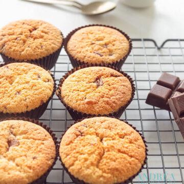 Cupcakes met chocolade stukjes