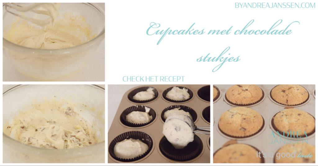 how to Cupcakes met chocolade stukjes