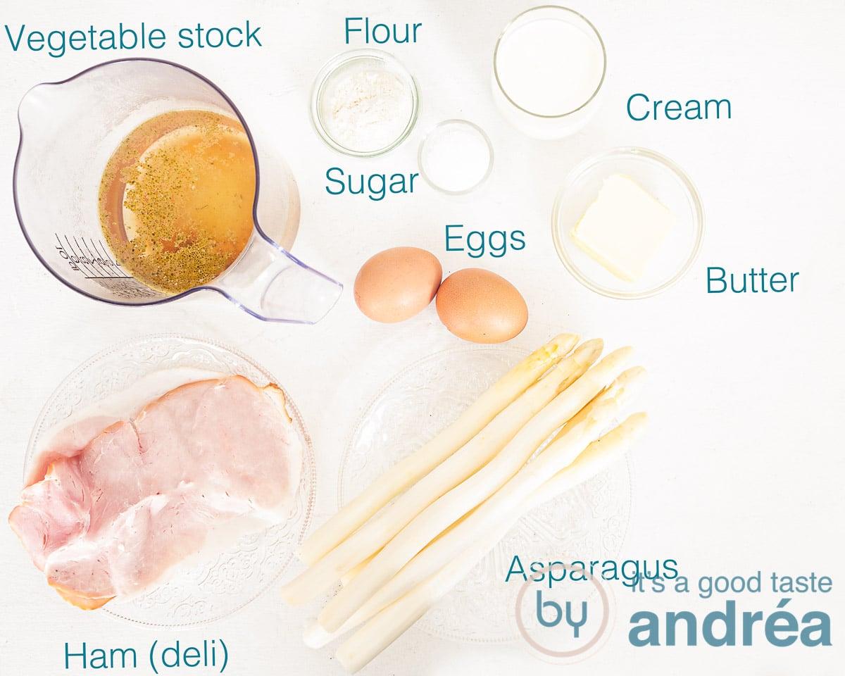 Ingredients Dutch cream of asparagus soup