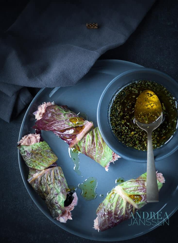 sla wrap met tonijnsalade