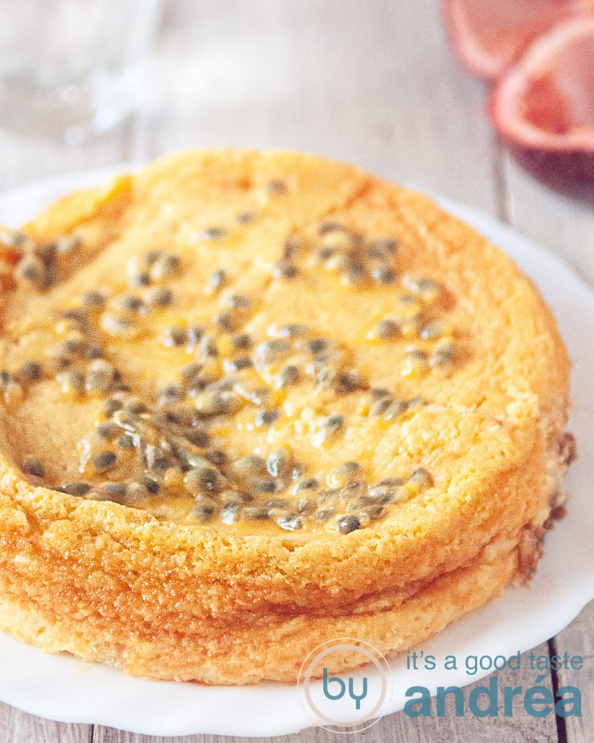cheesecake recept met witte chocolade en passie vrucht - easy cheesecake recipe with white chocolate and passion fruit