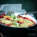 ovenschotel met schnitzel en veel groentes