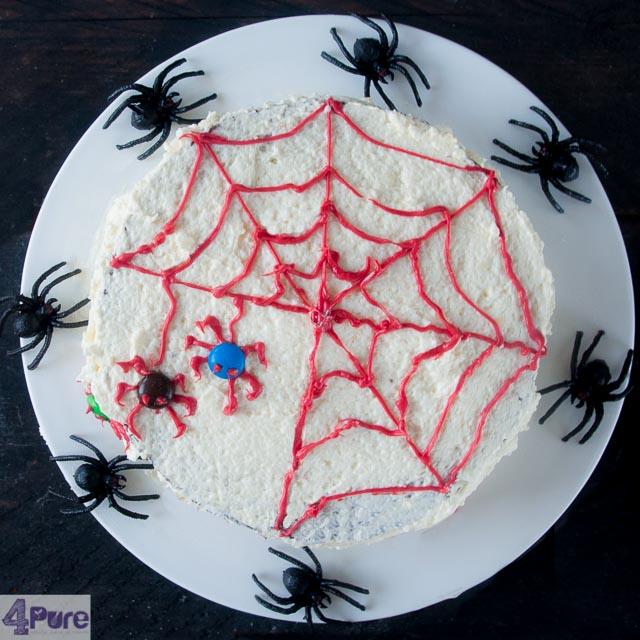 Halloween Spinnen taart - spider cake halloween
