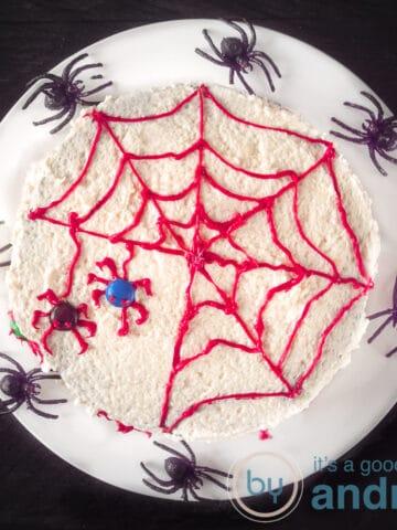 highlight Easy Halloween Spider Web Cake