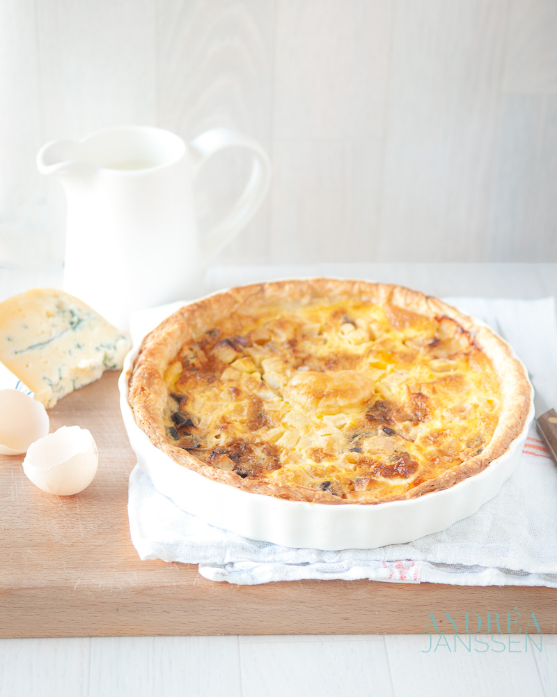appel gorgonzola quiche