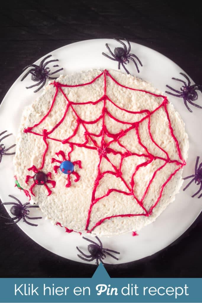 cta Halloween spinnentaart
