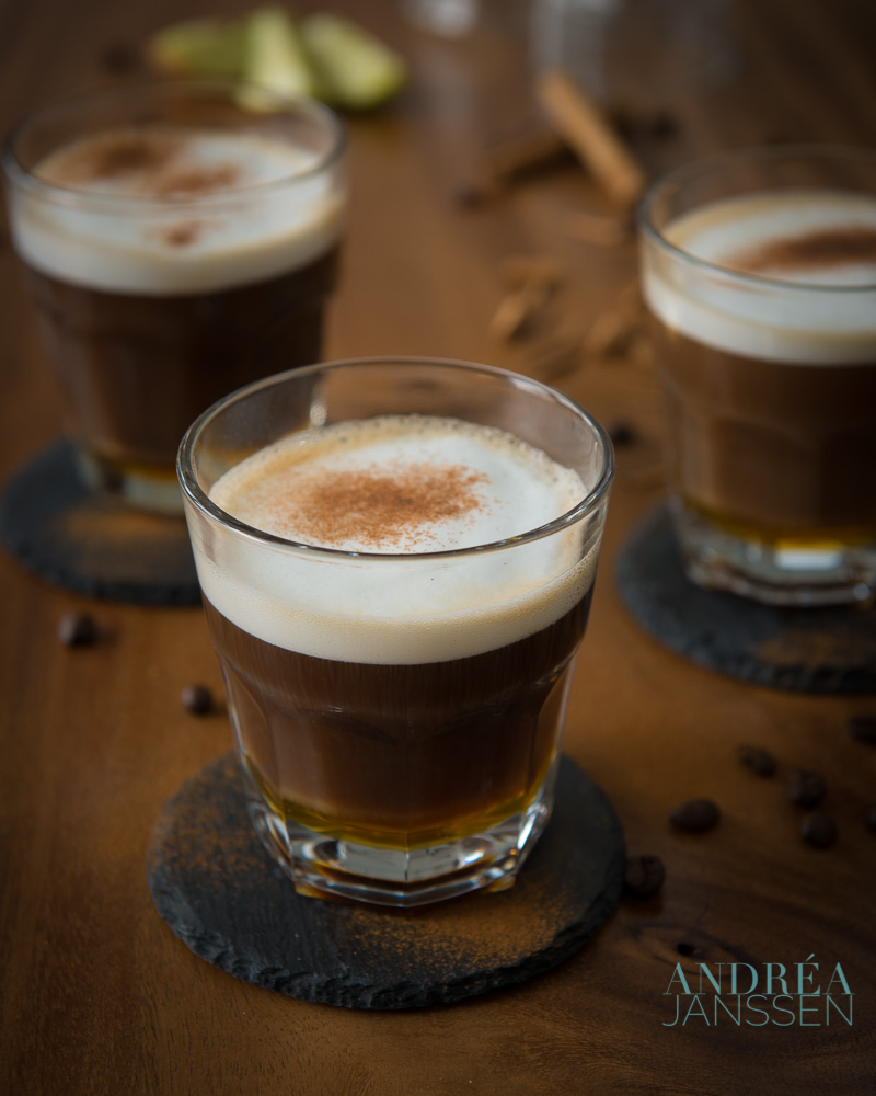 3 cups of Cafe au lait de luxe