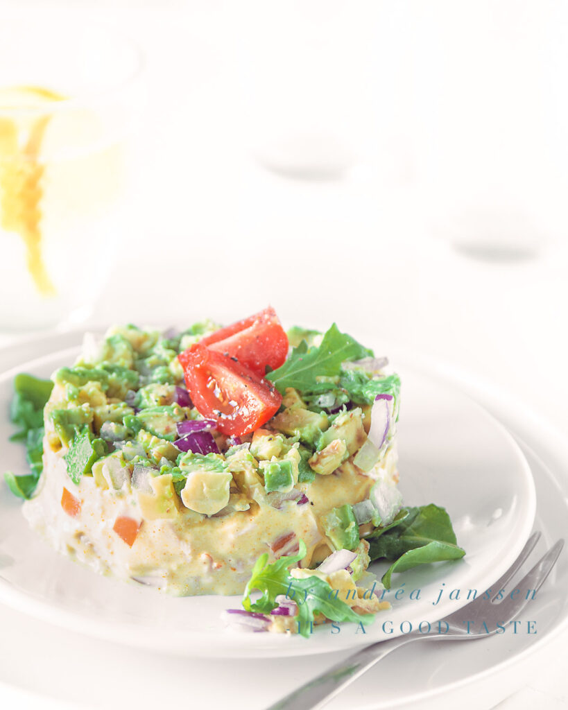 Smoked chicken and avocado salad