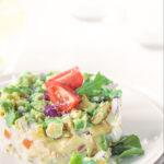 Pin Smoked chicken and avocado salad