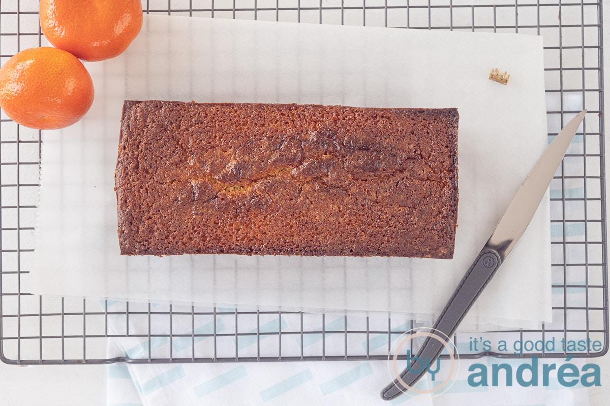 tangerine cake baked in the oven