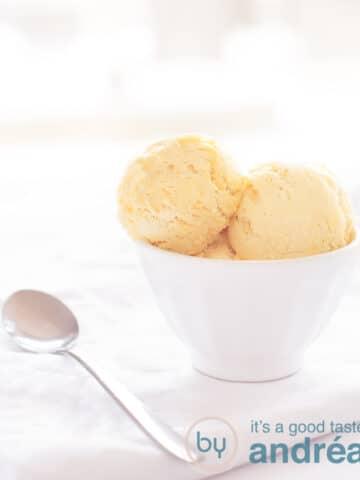 Cognac ice cream
