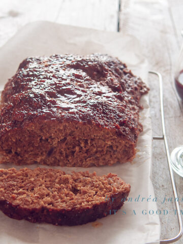 Meatloaf with red currant orange sauce