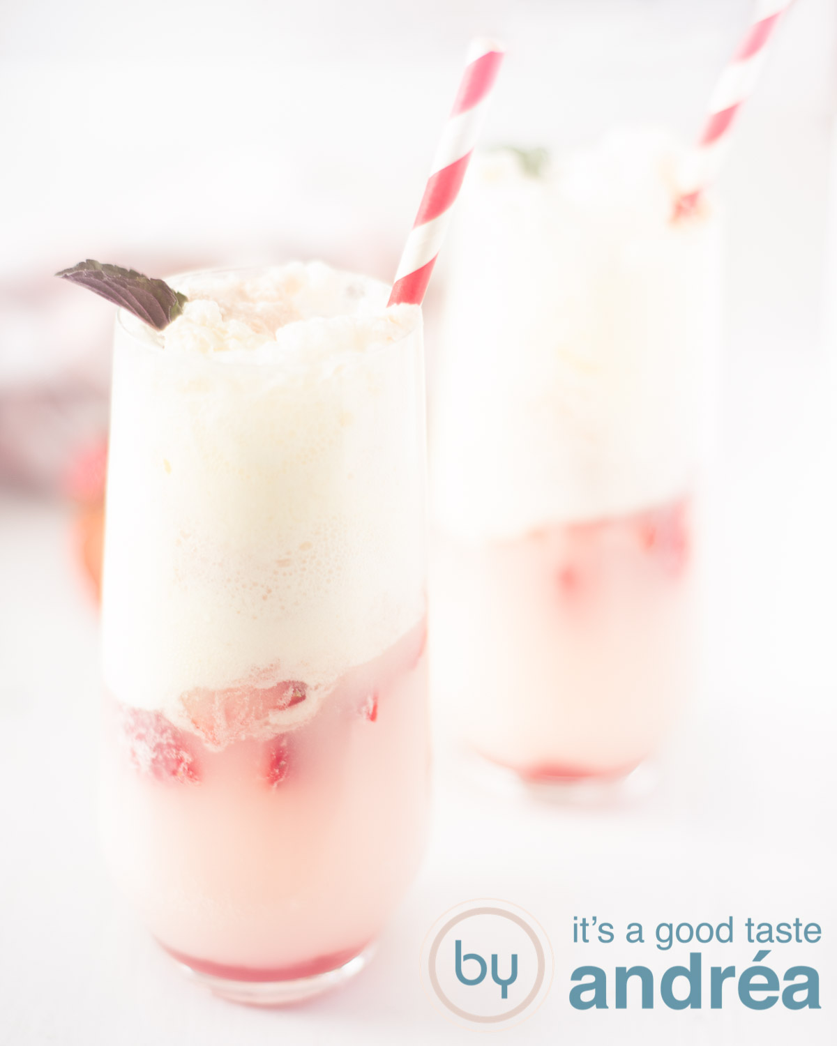 Refreshing strawberry soda ice cream