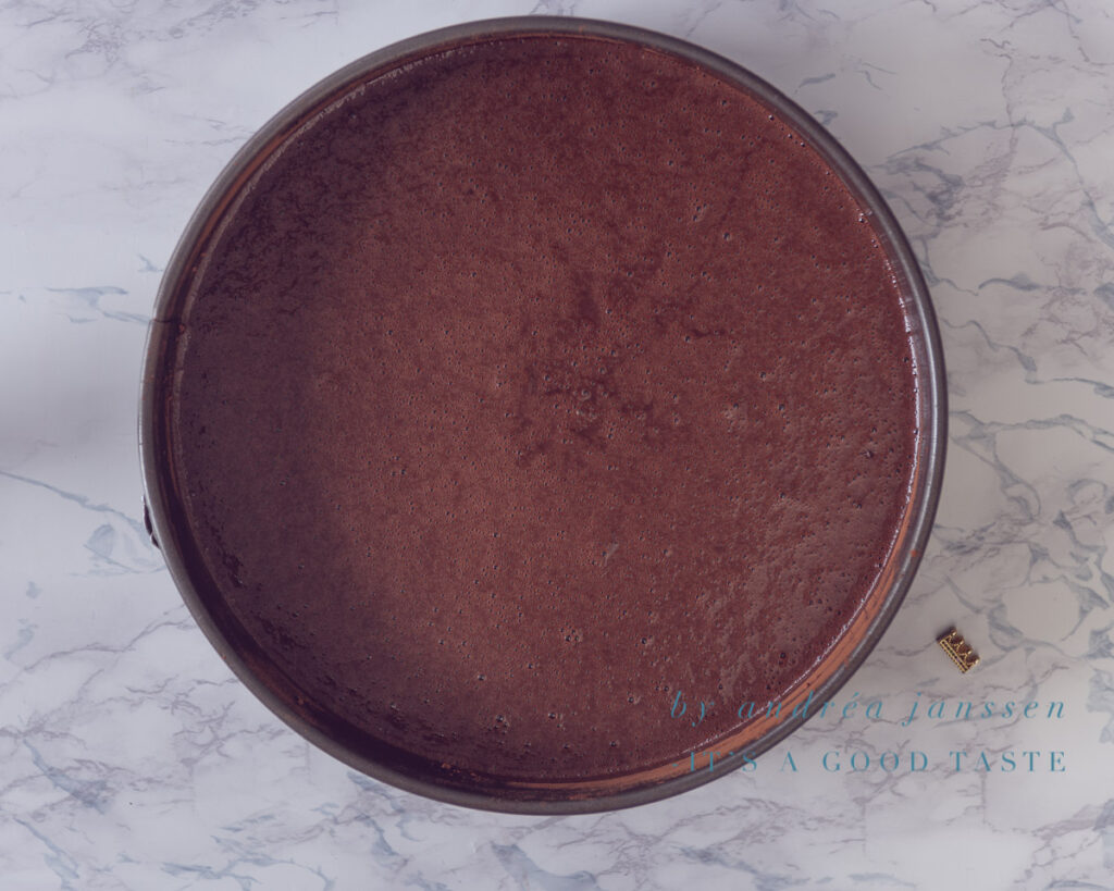 Pour the batter in the baking tin