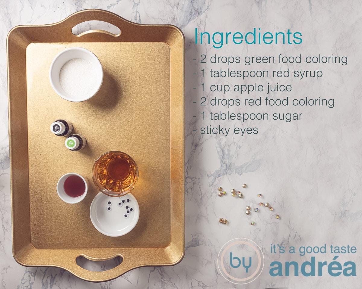 Ingredients Kids Halloween drink non alcoholic