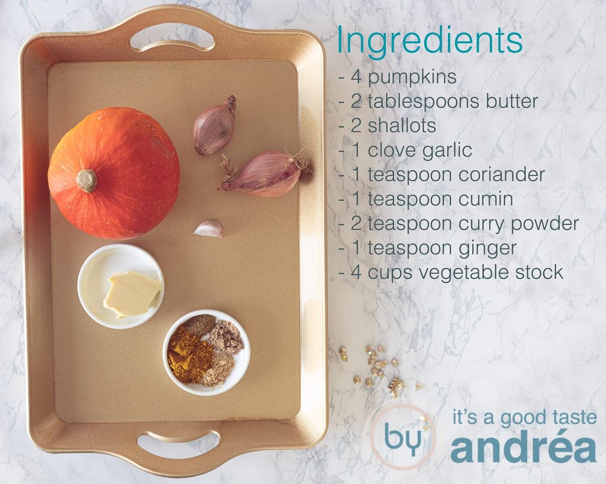 Ingredients Halloween pumpkin soup