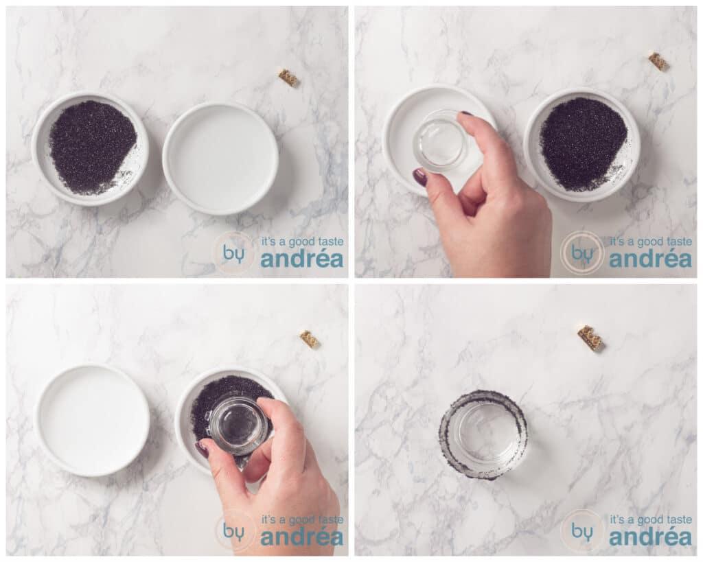 Make a black sugar rim