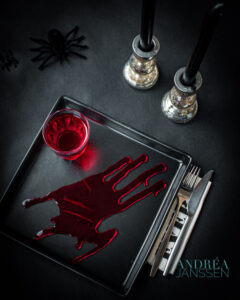 Aan tafel Halloween style