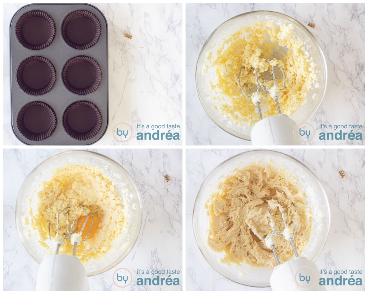Prepare the batter in four steps