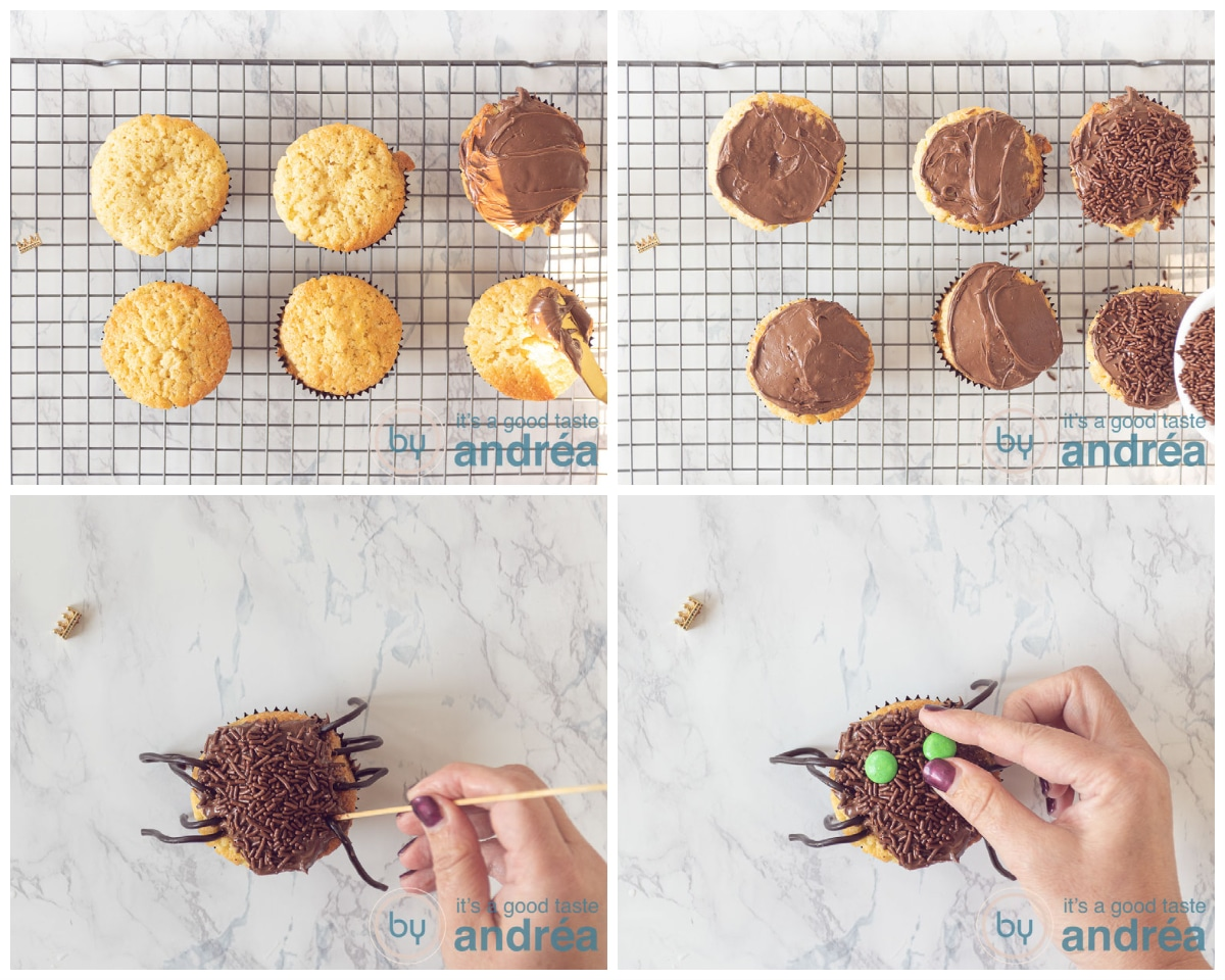 Decorate the cupcakes in four simple steps
