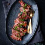 Gourmet recept gevulde biefstuk rolletjes-2