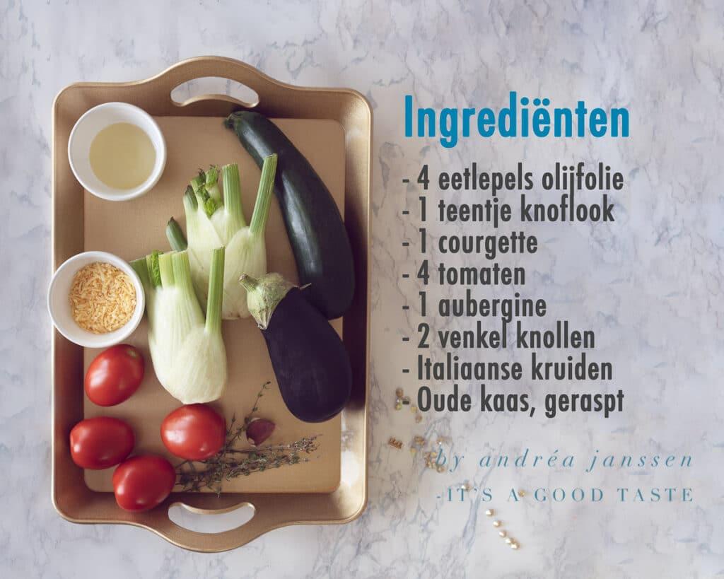 Ingrediënten Geroosterde