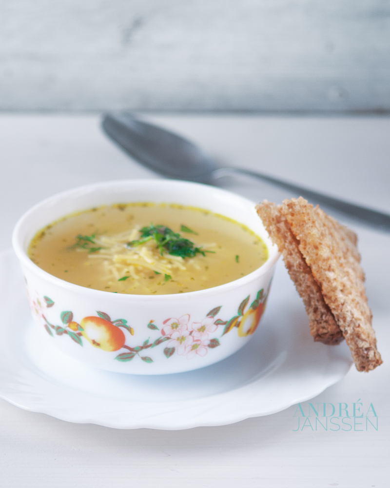 vermicelli soep - noodle soup-bewerkt