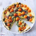 Boerenkool, tomaat en bacon quiche - Kale, tomato and bacon quiche