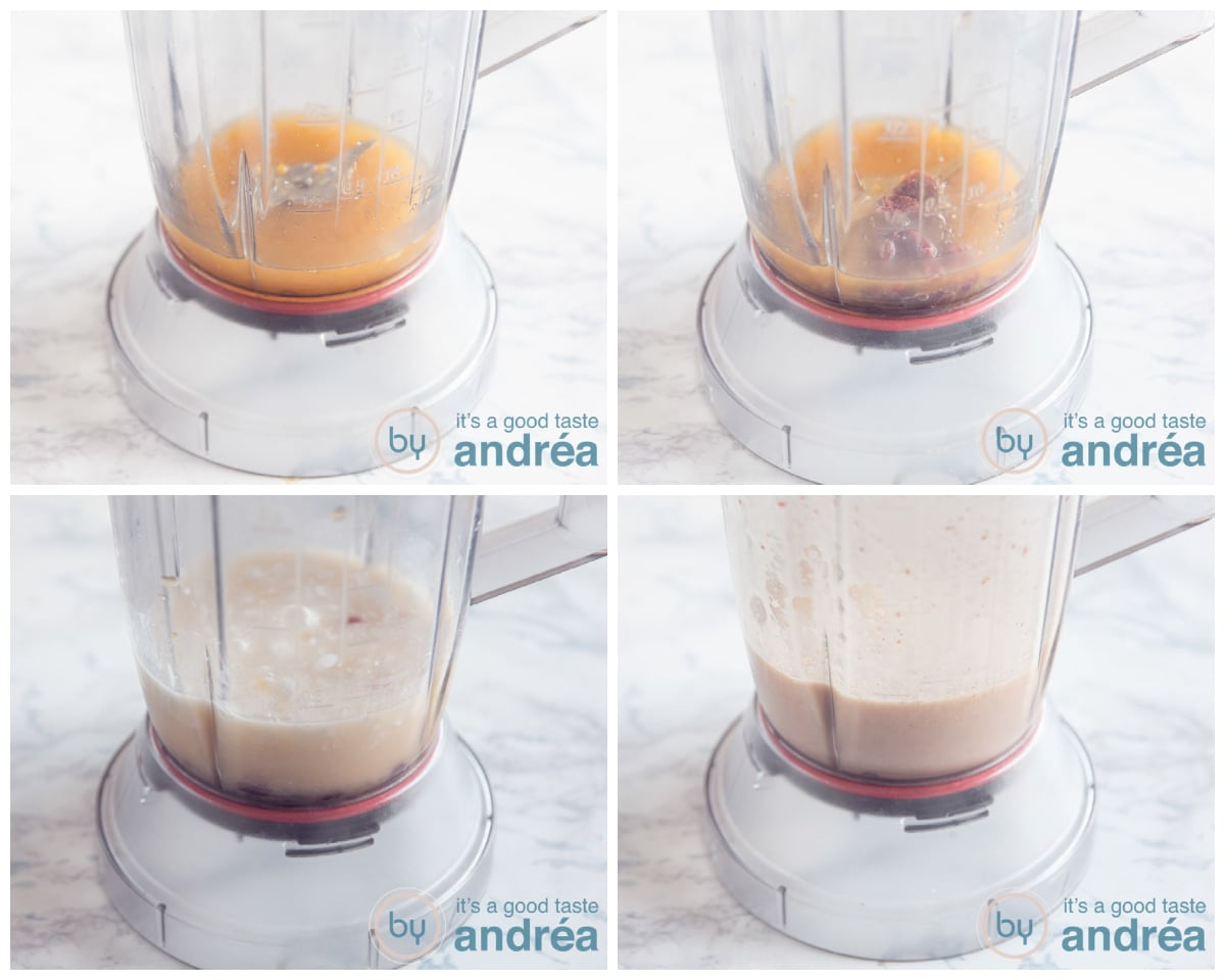 step 2 mix the ingredients with the blender in four steps