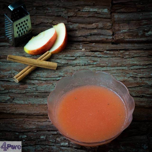 roze appelmoes met kaneel