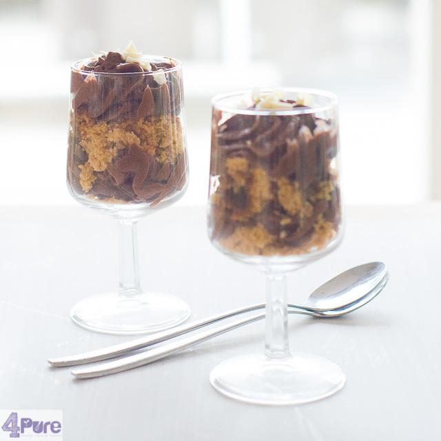 Chocolade mousse triffle - chocolate mousse triffle
