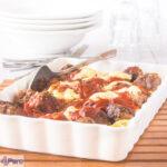 Gehaktballen ovenschotel met tagliatelle - meatball casserole with pasta